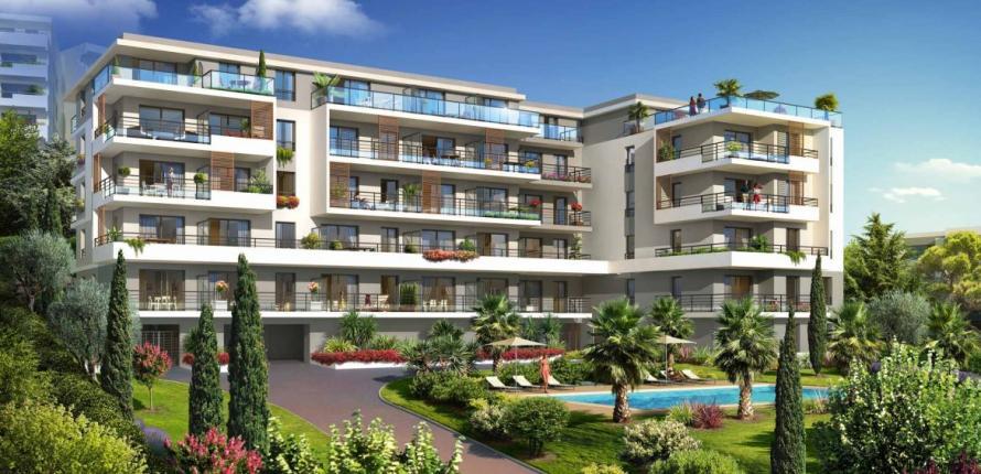 Замечательные апартаменты с видом на море, в ницце
